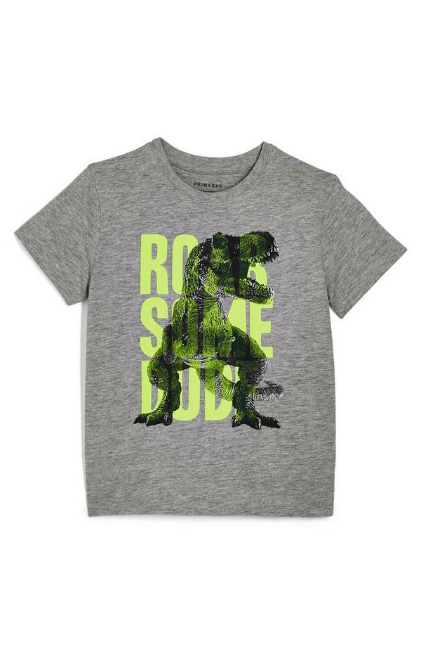 """Graues """"Roarsome Dude"""" T-Shirt (kleine Jungen)"""
