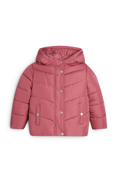 Younger Girl Pink Padded Jacket
