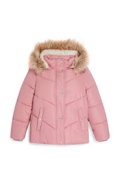 Older Girl Pink Padded Jacket