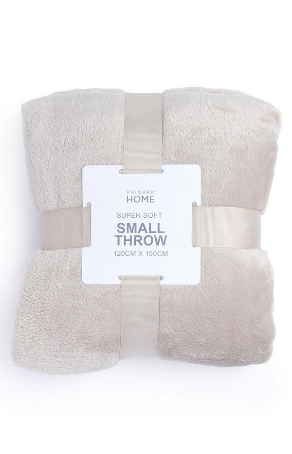 Beige Small Supersoft Throw