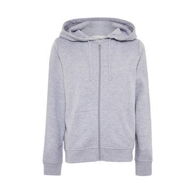 Grijze hoodie met rits