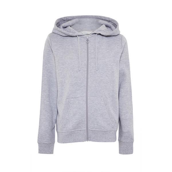 Gray Zip Hoodie