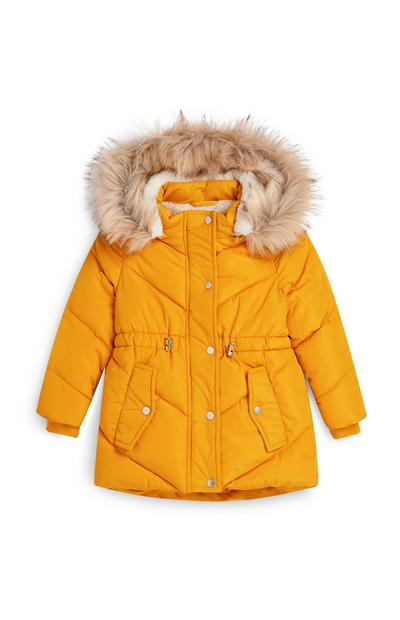 Younger Girl Yellow Padded Jacket