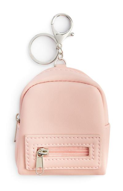 Pink Mini Backpack Keyring