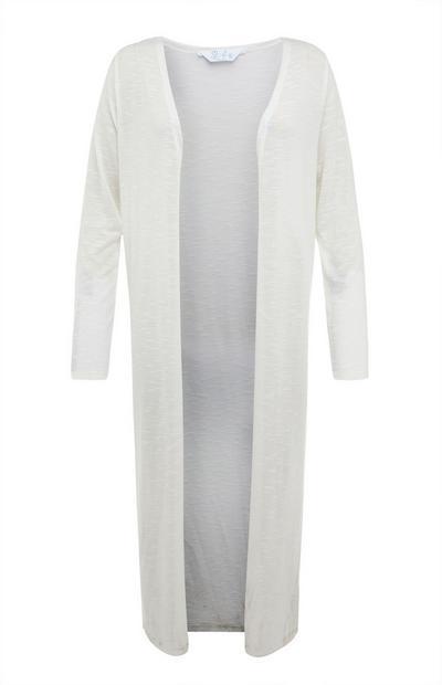 Cardigan bianco lungo cut and sew