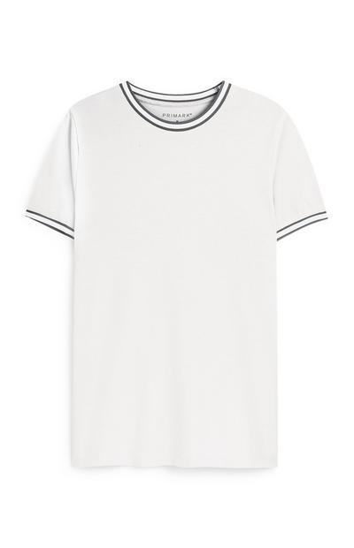 White Tipped Crew Neck T-Shirt