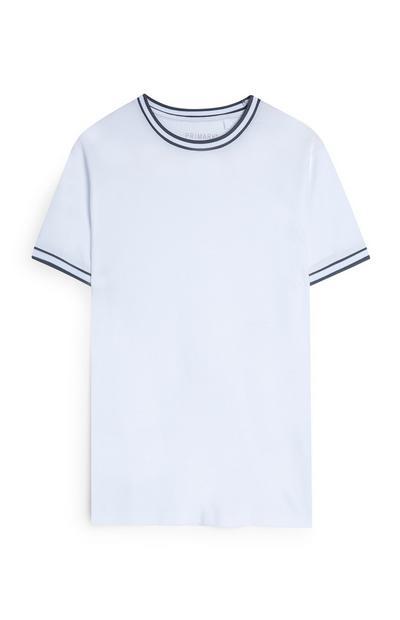 T-shirt bianca con bordi a contrasto Kem Centinay