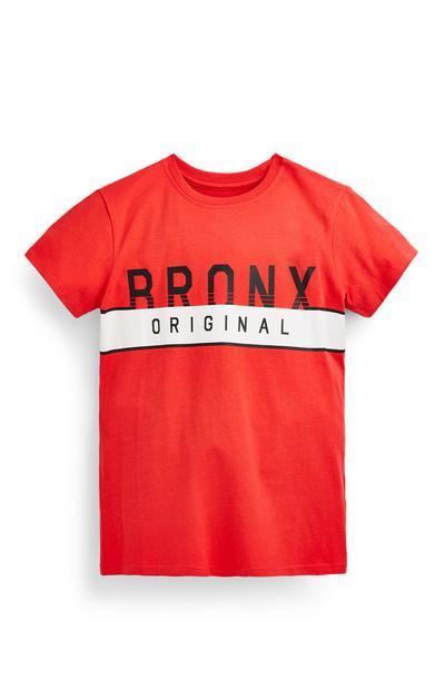 T-shirt rouge Bronx ado