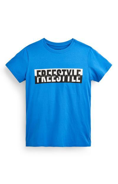Blauw T-shirt Freestyle voor jongens