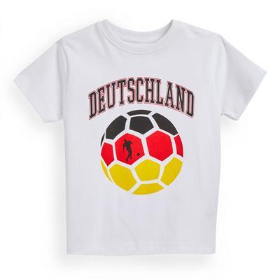T-shirt de foot blanc Euro Allemagne garçon