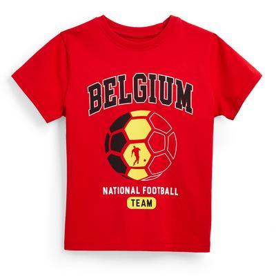 T-shirt de foot rouge Euro Belgique garçon