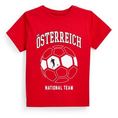T-shirt de foot rouge Euro Autriche garçon