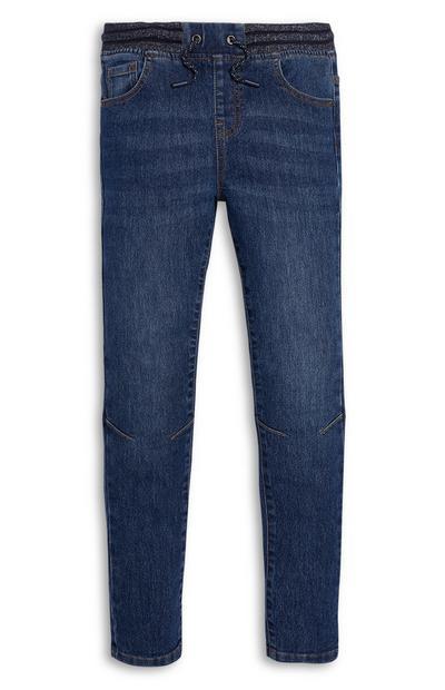 Jeans blu scuro da ragazza