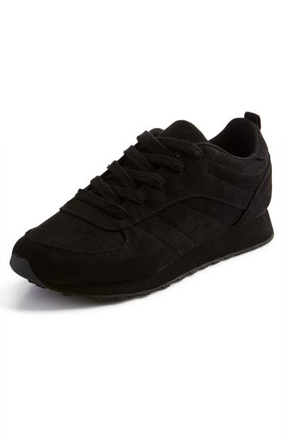 Black Classic Faux Suede Trainers