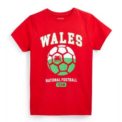 Older Boy Red Wales Euros Football T-Shirt