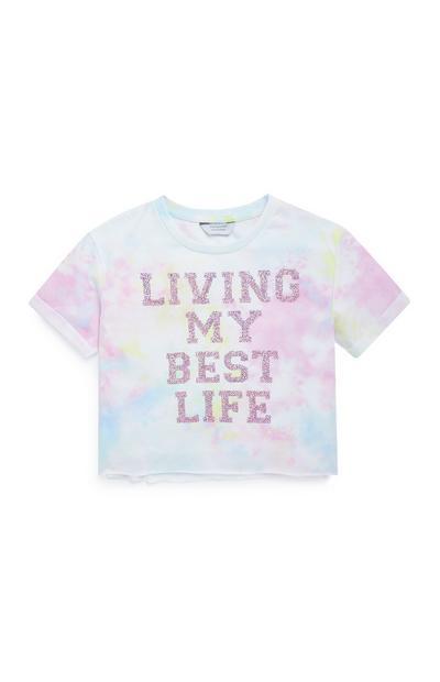 Majica z napisom Living My Best Life za starejša dekleta