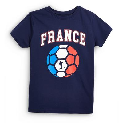 T-shirt de foot bleu marine Euro France ado