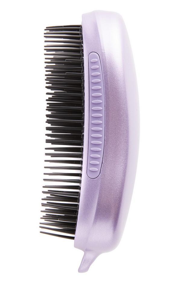Brosse démêlante violette pour cheveux bouclés et épais