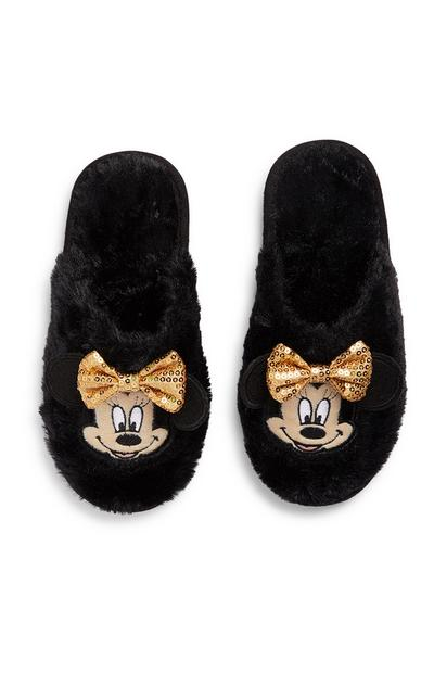 Mules noires Minnie Mouse ado