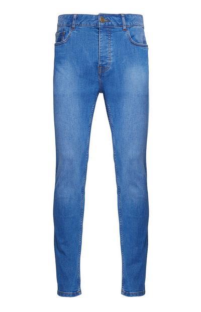 Jean skinny stretch bleu vif