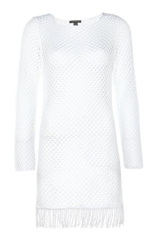 Weißes Häkel-Kleid