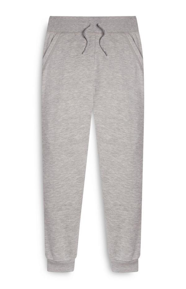 Pantalon de jogging gris garçon