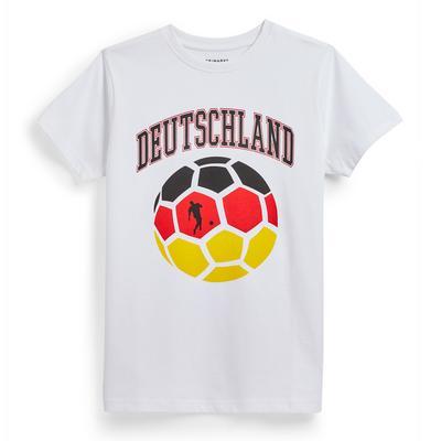 Bela navijaška majica Evropskega prvenstva v nogometu Nemčija za starejše fante