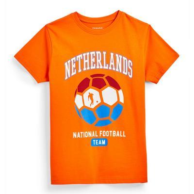 Oranžna navijaška majica Evropskega prvenstva v nogometu Nizozemska za starejše fante