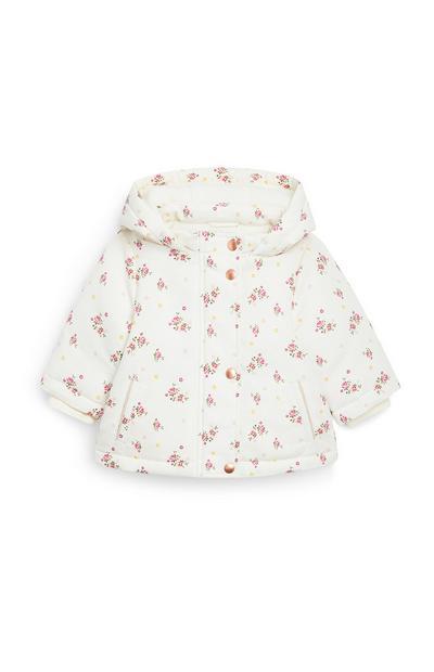 Baby Girl Taslon Floral Jacket