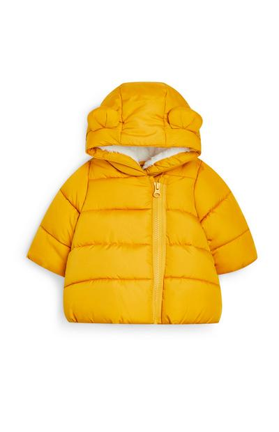 Baby Girl Yellow Padded Jacket With Ears