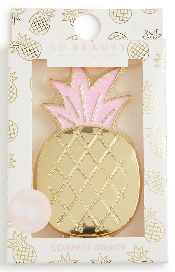 """""""Skinny Dip Beauty"""" Taschenspiegel im Ananas-Design"""