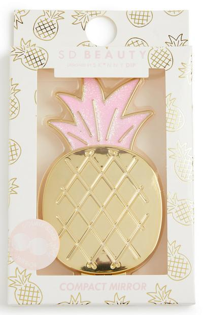 Skinny Dip Beauty Pineapple Compact Mirror