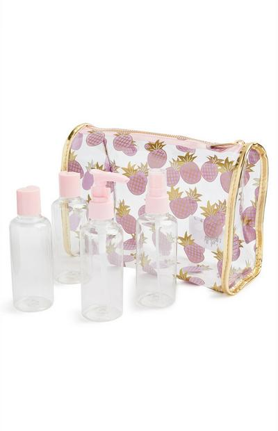 SD Beauty Pineapple Travel Bottle Set