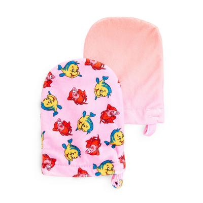 Pink Disney The Little Mermaid Sebastian Cleanser Mitts 2 Pack