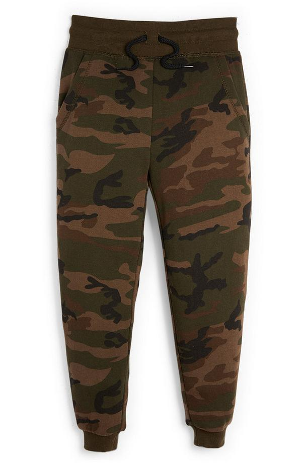 Younger Boy Olive Camo Joggers