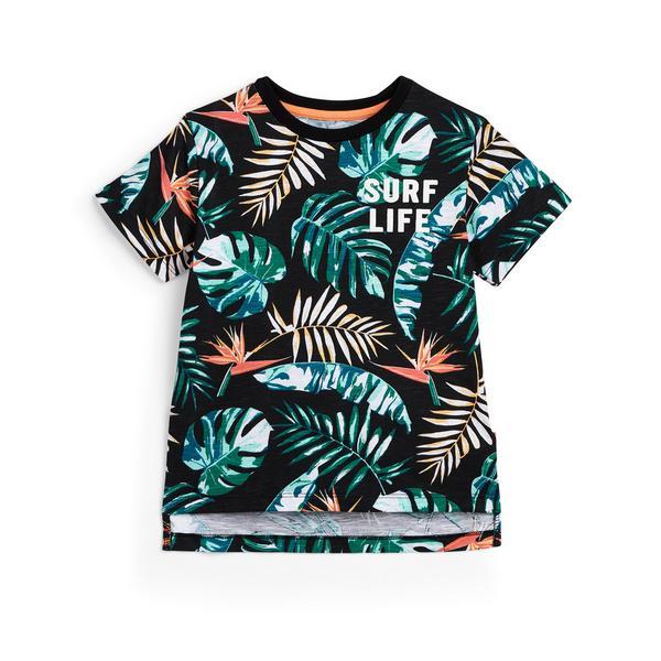 T-Shirt mit Blattmuster (kleine Jungen)