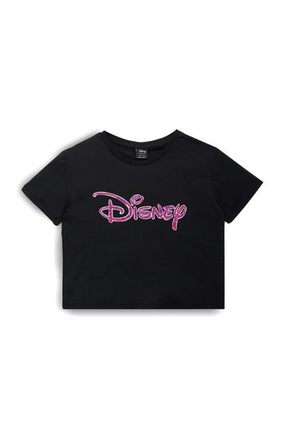 Older Girls Black Disney Logo Sequin T-Shirt