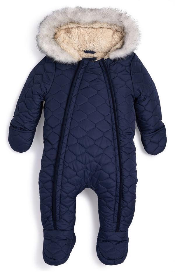 Schneeanzug mit Kunstfellfutter für Babys (J)