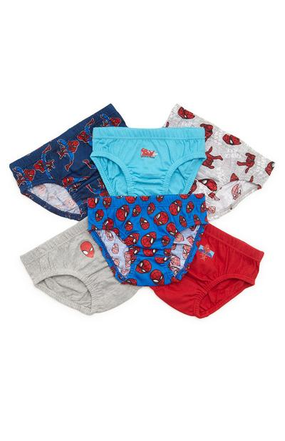 Boys Spiderman Briefs 6 Pack