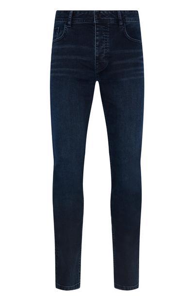 Blauwzwarte skinny jeans met stretch