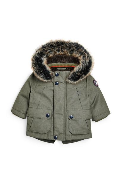 Baby Boy Fur Lined Parka