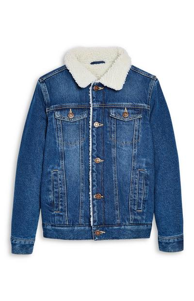Older Boy Shearling Denim Jacket