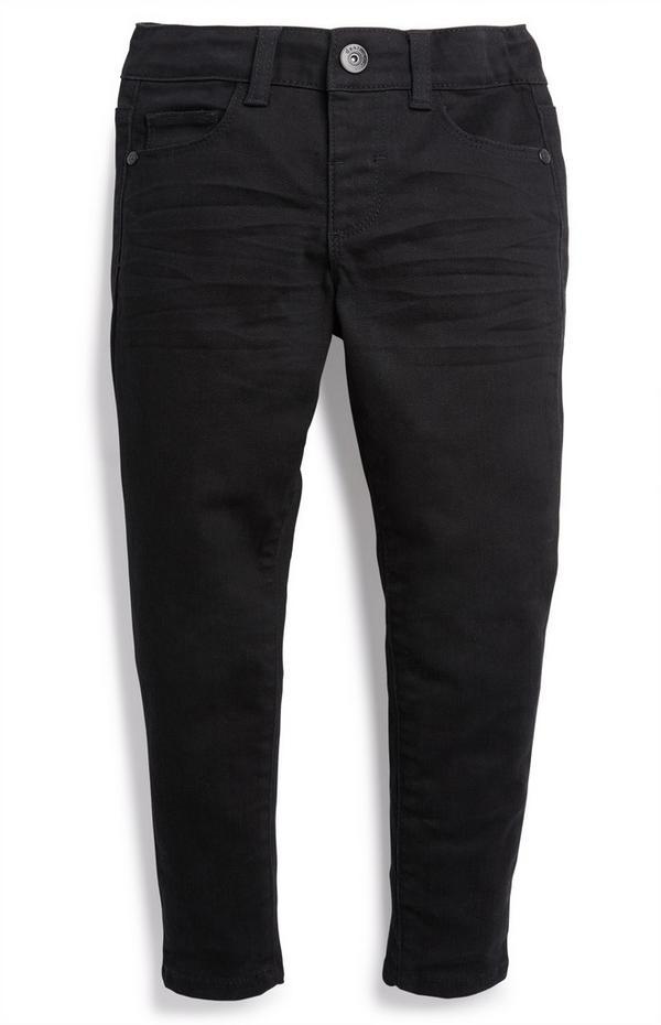 Zwarte broek van twill-katoen voor jongens