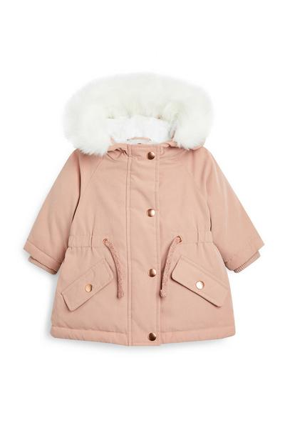 Baby Girl Pink Parka
