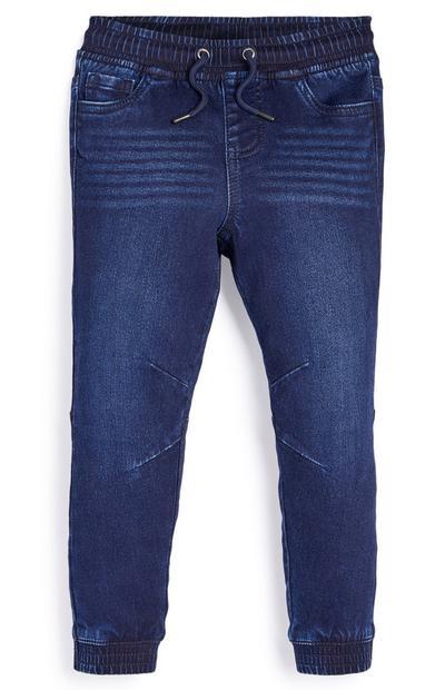 Pantalones de chándal de punto azul marino para niño pequeño
