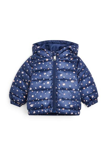 Baby Girl Lightweight Blue Padded Jacket