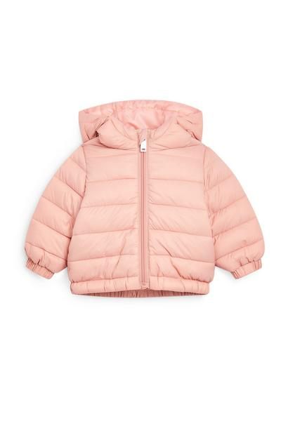 Baby Girl Lightweight Pink Padded Jacket