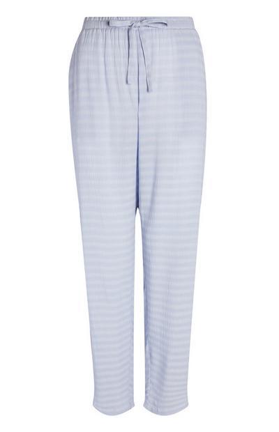 Wijdvallende blauwe broek