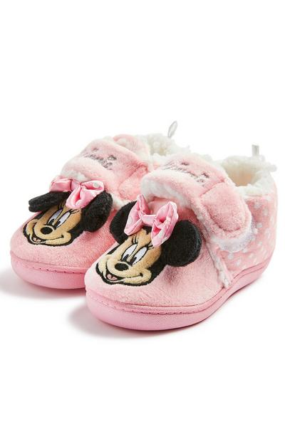 Chaussons roses Disney Minnie Mouse à semelle concave fille