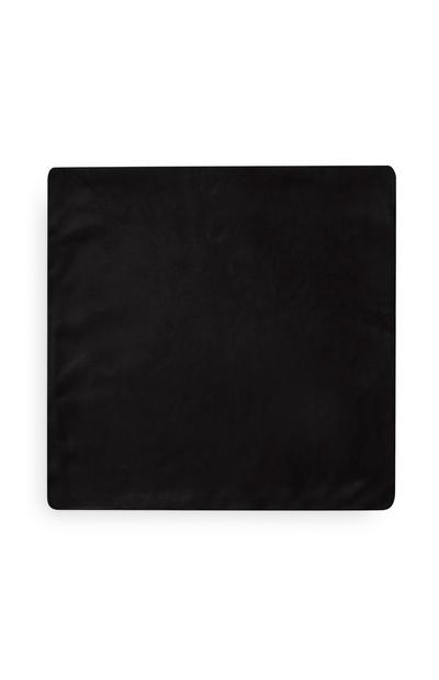Black Supersoft Cushion Cover